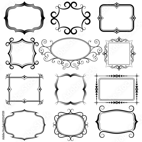 various vintage frame set