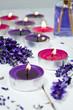 Teelichter mit Lavendel und Duftöl