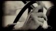 Retro driver hands, closeup shot. HD.