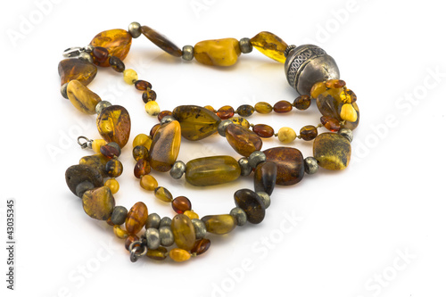 Two necklaces made of amber