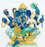 God of success 8 of 32 posture. Indian or Hindu God Ganesha avat