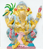 God of success 15 of 32 posture. Indian or Hindu God Ganesha ava