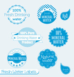 Vector set of drinking water labels