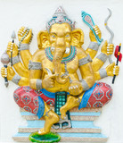 God of success 16 of 32 posture. Indian or Hindu God Ganesha ava