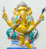 God of success 20 of 32 posture. Indian or Hindu God Ganesha ava