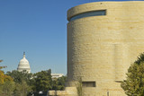 National Museum of the American Indian and US Capitol, Smithsonian, in Washington D.C.