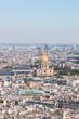 Les invalides - Aerial view of Paris.