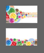 Abstract business card color bright vector background