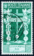 Postage stamp Italy 1937 Cross Roman Standards