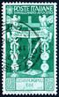 Postage stamp Italy 1937 Cross Roman Standards