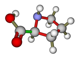 Amino acid proline molecular structure
