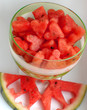 Watermelon Segment with Full Glass