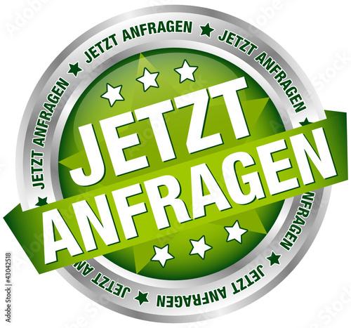 """Button Banner """"Jetzt anfragen"""" grün/silber"""