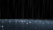 Leinwandbild Motiv Night rain