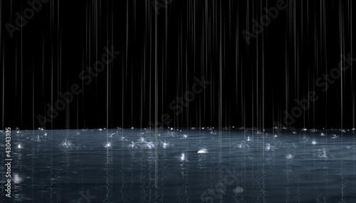 Night rain - 43043105