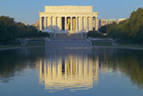 The Lincoln Memorial and Reflecting pond at sunrise in Washington D.C.
