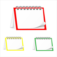 calendars blank desktop on white