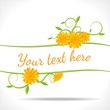 floral banner with marigold