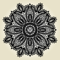 Delicate lace doily pattern