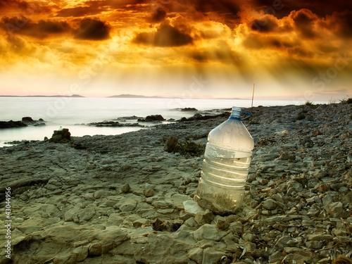 Poster Droogte Last water