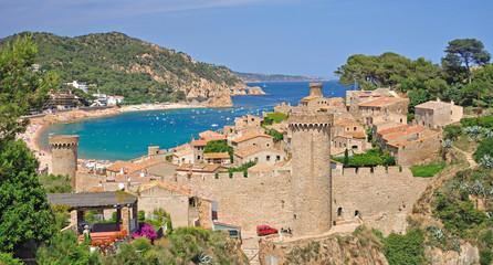 die Festung im beliebten Bade-und Urlaubsort Tossa de Mar