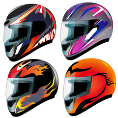 set  send racing red insulated on white background