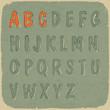Retro styled sans-serif font. Vector, EPS10