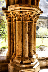 Detail of gothic column in Se Velha, Coimbra