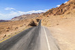 winding road Artists drive in the Death Valley