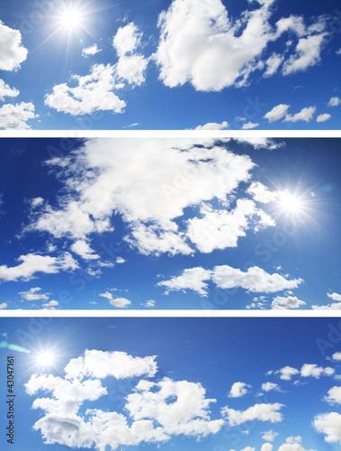 Fototapeten,blau,hell,wolken,cumulus