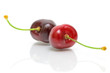 ripe cherry on a white background