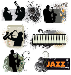 Grunge Jazz banners