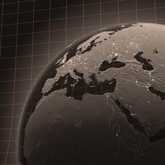 Welthalbkugel Retro