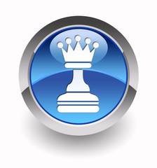 """Queen glossy icon"" (Chess collection: 6/7)"