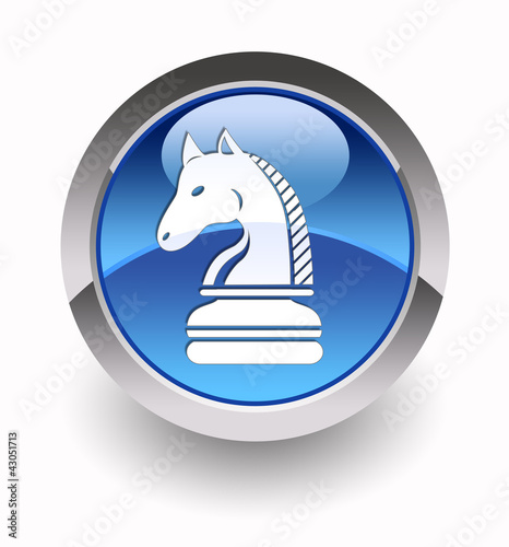 """Knight glossy icon"" (Chess collection: 4/7)"