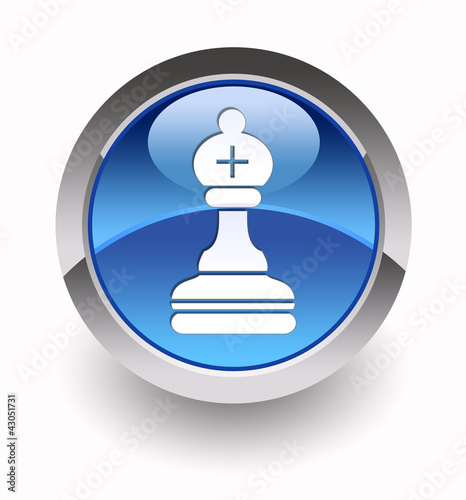 """Bishop glossy icon"" (Chess collection: 5/7)"