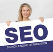 frau schild seo Search Engine Optimization