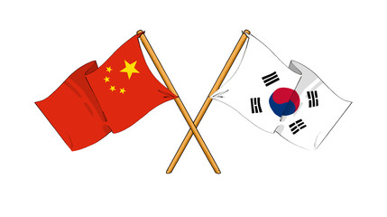 China and South Korea alliance and friendship