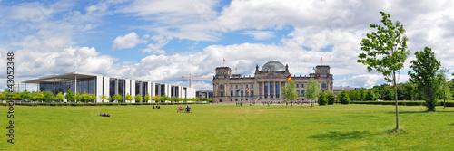 Foto op Aluminium Berlijn Panoramafoto Berlin, Reichstag