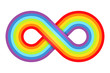 Abstract rainbow infinity. Vector illustration.