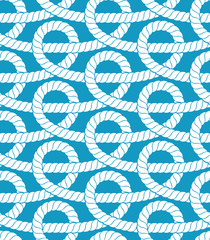 Ropes seamless pattern. Vector illustration.