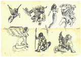 Mystical creatures. According to ancient Greek myths. poster