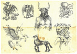 Mystical creatures.According to ancient Greek myths. poster