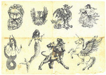 Mystical creatures. According to ancient Greek myths.