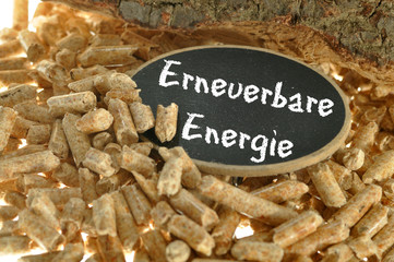 Eneuerbare Energie Holzpellets