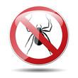 Señal prohibicion araña
