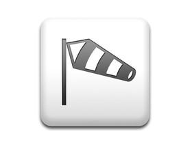 Boton cuadrado blanco simbolo viento