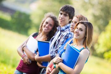 Teenage Students at Park