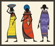 Vector African Women Set