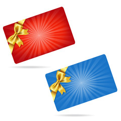 Gift Cards With Gift Bows
